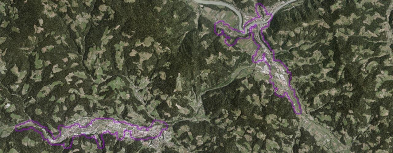 Slika 1: Prikaz OPVP Prevalje - Ravne na Koroškem in OPVP Dravograd (AV, 2018)