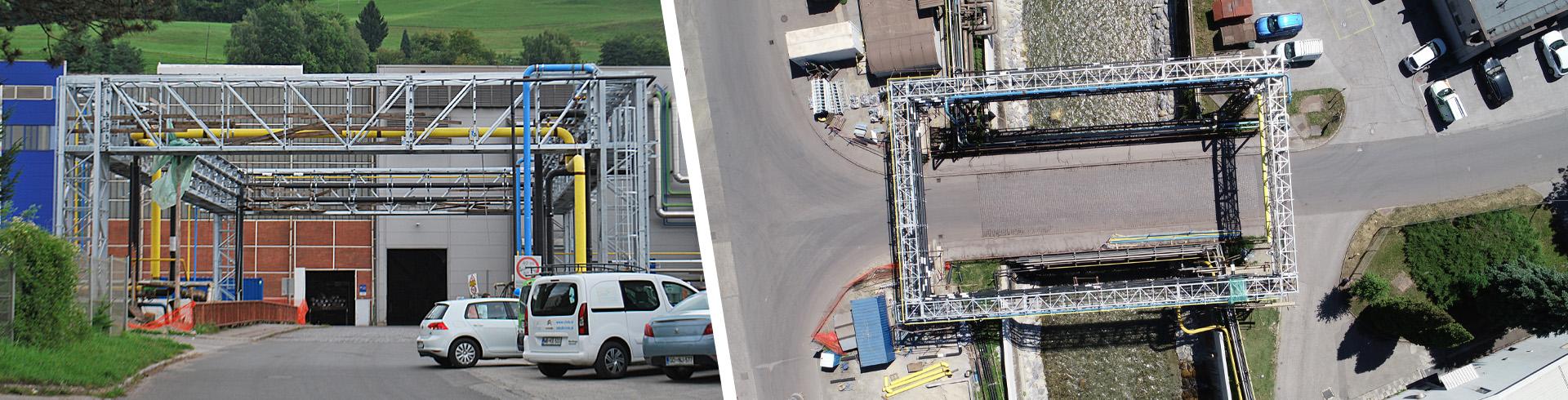 Energetski most za dvig instalacijskih vodov