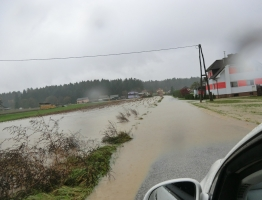Slika 2: Poplavljanje Homšnice, 2012