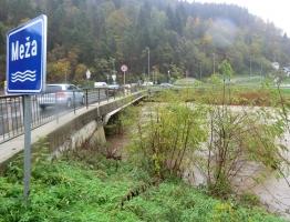 Slika 6: Meža, Otiški vrh - poplava 2012