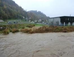 Slika 7: Meža, Otiški vrh - poplava 2012