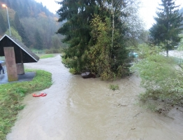 Meža, Poljana - poplava 2012