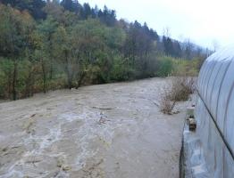 Slika 4: Poplavljanje Mislinje, Pameče, 2012