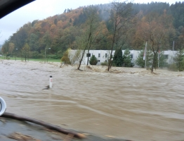 Slika 16: Mislinja, Pameče - poplava 2012