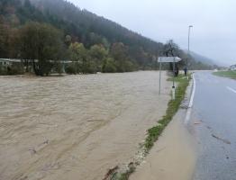 Slika 12: Mislinja, Pameče - poplava 2012