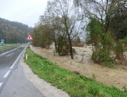 Slika 13: Mislinja, Pameče - poplava 2012